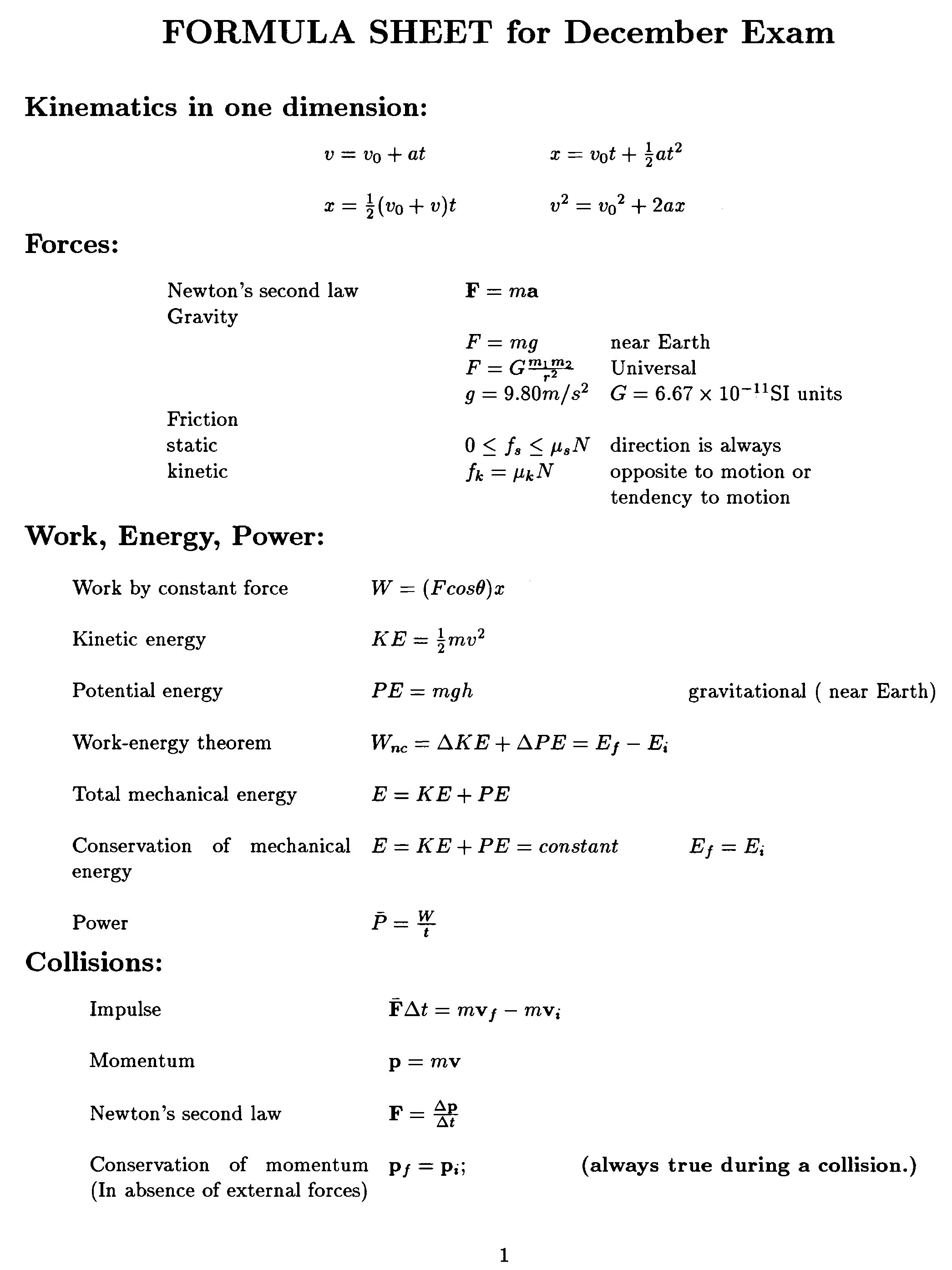 Equation Physics Formu...